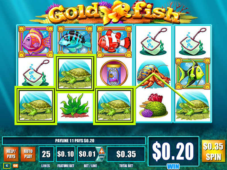 Casino games goldfish alsalbine for Fish casino slot